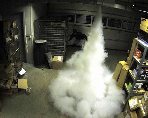 Niebla de seguridad para protección de robos en sevilla